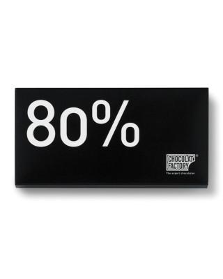Rajola de xocolata negra amb 80% de cacau