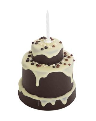 Pastel de chocolate negro y chocolate blanco