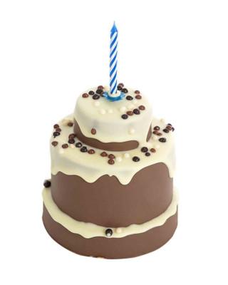 Pastel de chocolate con leche y chocolate blanco