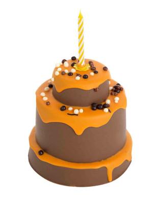 Pastel de chocolate con leche y naranja