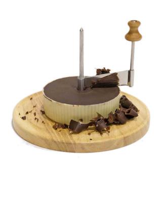 Disco de chocolate con molinillo