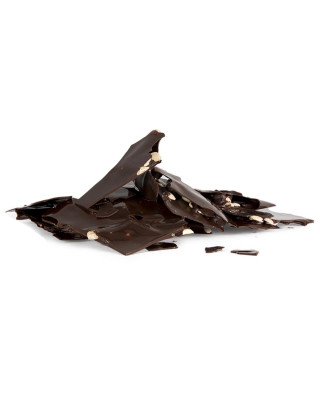 Placa de chocolate negro y fruto seco (almendras y avellanas)